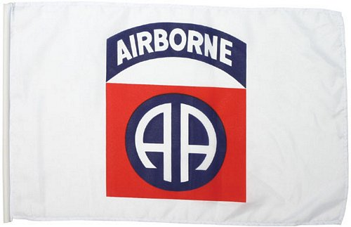 82nd Airborne Stick Flag 18 in