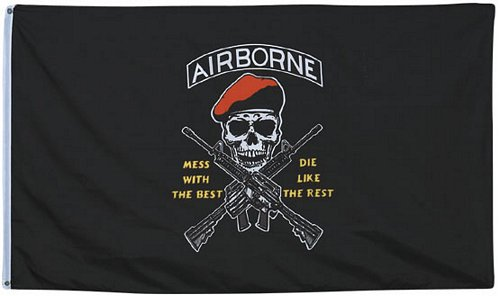 Mess w/ the Best Airborne Flag 3 ft x 5 ft