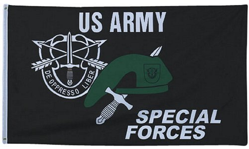 Special Forces w/ Beret & Knife Flag 3 ft x 5 ft