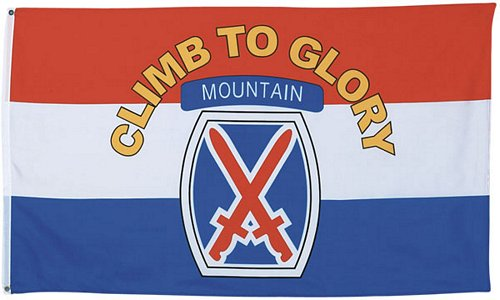 10th Mountain Division Flag 3 ft x 5 ft