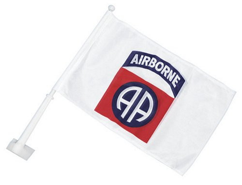 82nd ABN Car Flag