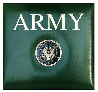 Scrapbook, Army, Green