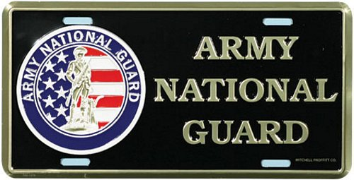 Army National Guard License Plate