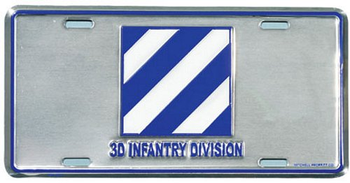 3D Infantry Division License Plate