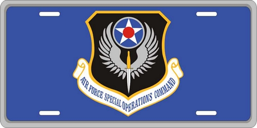 Air Force Special Operations Command License Plate