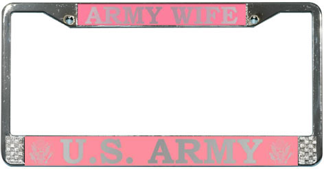 License Frame, Army Wife