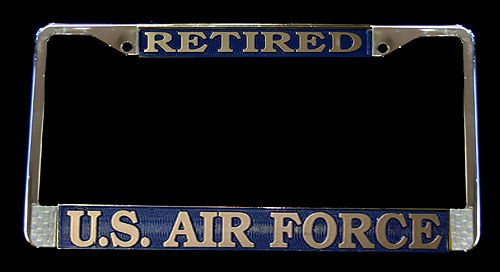 License Frame, Retired Air Force