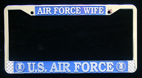 License Frame, Air Force Wife