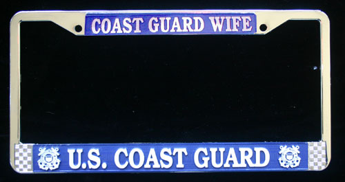 License Frame, Coast Guard Wife