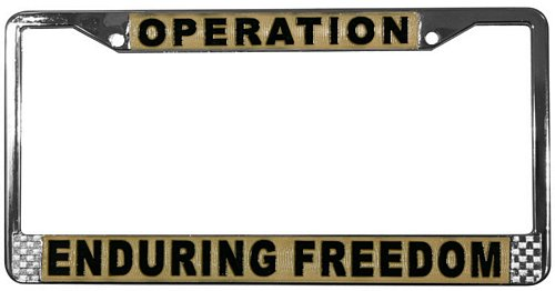 Operation Enduring Freedom License Frame