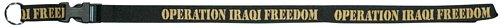 Operation Iraqi Freedom Lanyard (Silk Screened on Black or Khaki