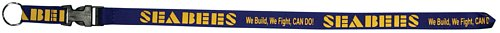 Seabees - We Build, We Fight, CAN DO! - Silk Screened Lanyard
