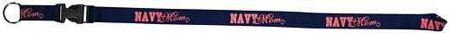 Navy Mom Silk Screened Lanyard