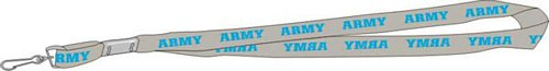 ARMY Blue Imprint Tubular Lanyard w/J Hook
