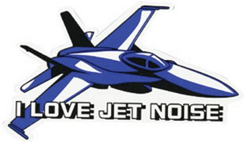 I Love Jet Noise Auto (5.75 in.) Magnet