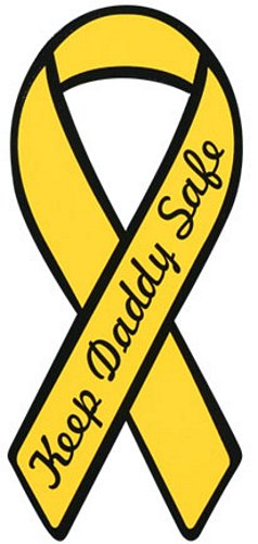 Keep Daddy Safe Yellow Ribbon