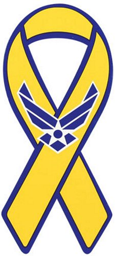 Air Force Hap Arnold Yellow Ribbon Magnet