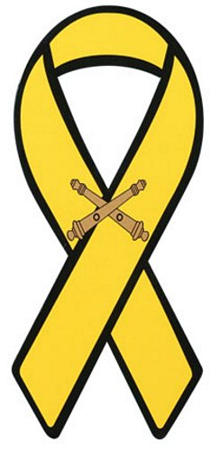Field Artillery (Crossed Cannon) Yellow Ribbon Magnet