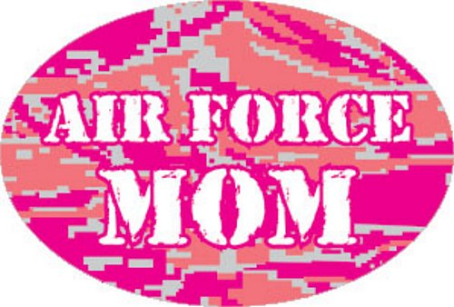 Air Force Mom Pink ABU Oval Magnet