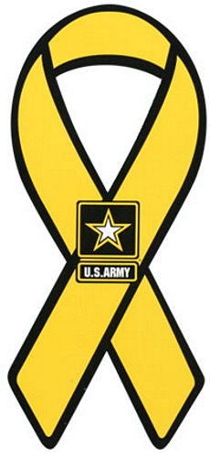 Army Star Logo Yellow Ribbon Magnet