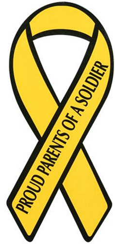 Proud Parents of a Soldier Yellow Ribbon Magnet