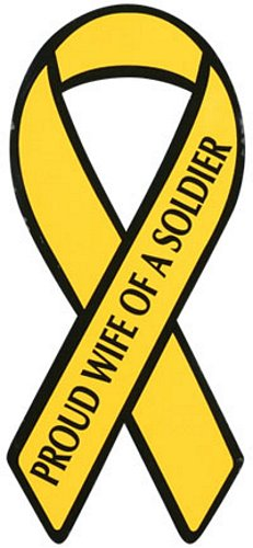 Proud Wife of a Soldier Yellow Ribbon Magnet