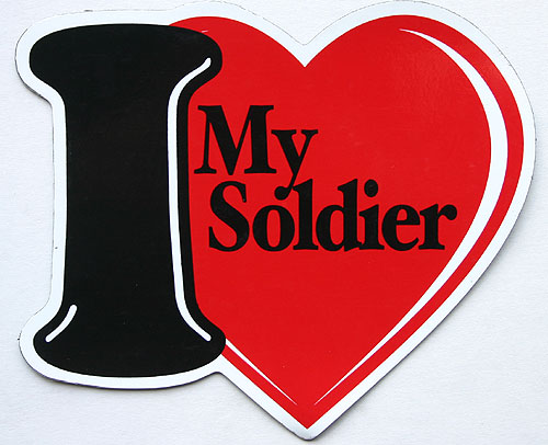Magnet, I Love My Soldier