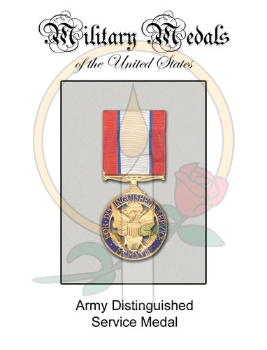 Medal Card, Army Distinguished Service