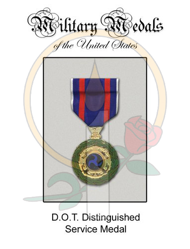 Medal Card, DOT Distinguished Service