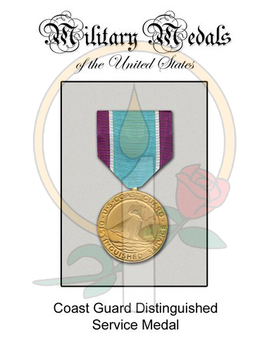 Medal Card, CG  Distinguished Service