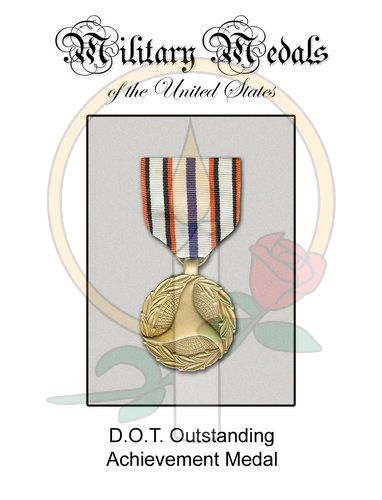 Medal Card, DOT Outstanding Achievement
