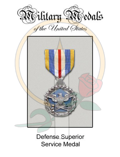 Medal Card, Defense Superior Service