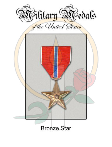 Medal Card, Bronze Star