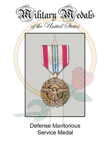 Medal Card, Defense Meritorious
