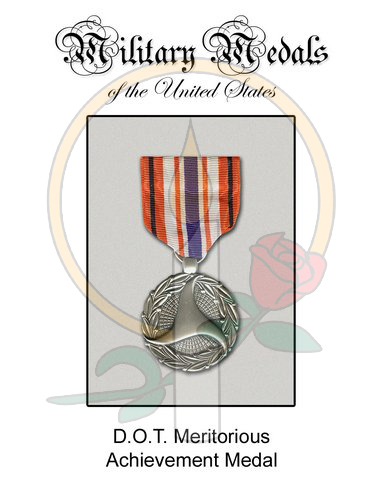 Medal Card, DOT Meritorious Achievement