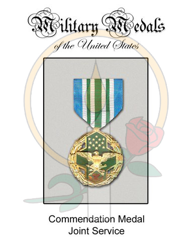 Medal Card, Commendation - Joint Service