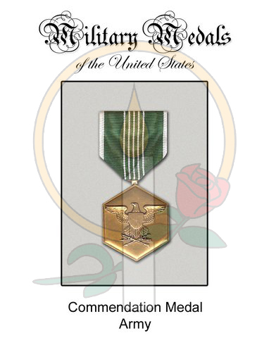 Medal Card, Commendation - Army