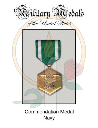 Medal Card, Commendation - Navy
