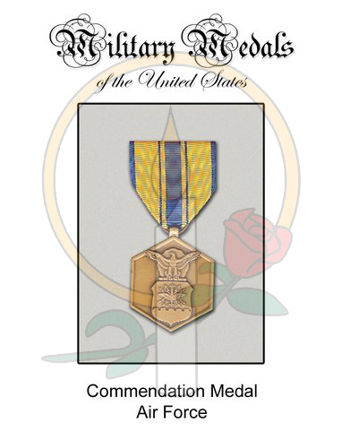 Medal Card, Commendation - AF