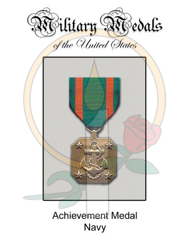 Medal Card, Achievement Navy