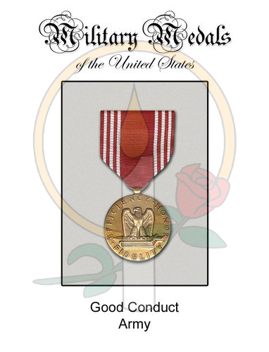 Medal Card, Good Conduct Army
