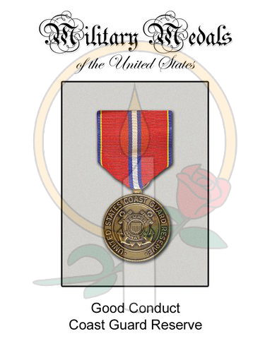 Medal Card, Good Conduct CG Reserve