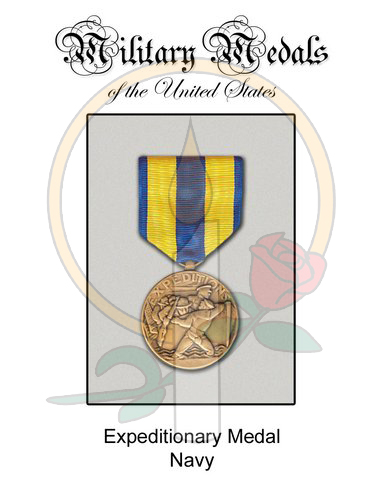 Medal Card, Expeditionary Navy