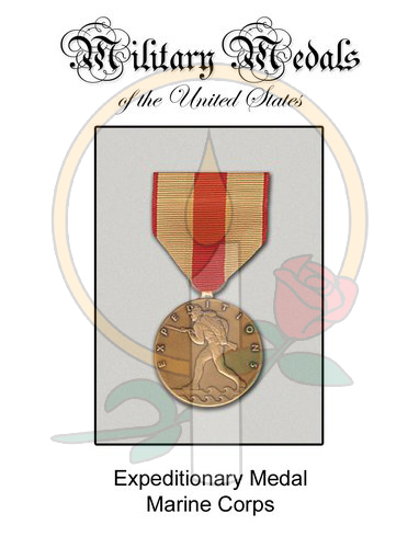 Medal Card, Expeditionary MC