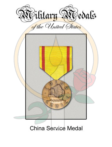 Medal Card, China Service