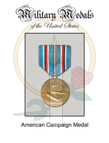 Medal Card, American Campaign