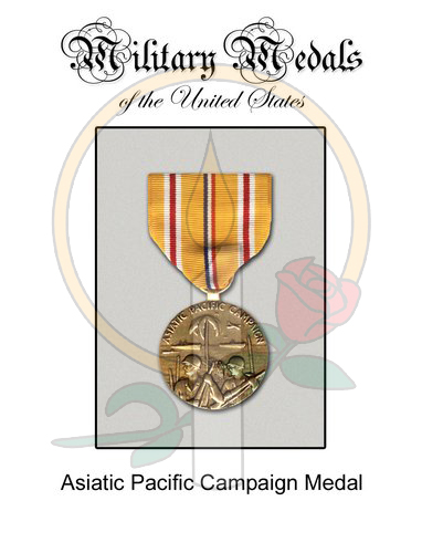 Medal Card, Asiatic Pacific Campaign