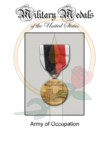 Medal Card, Army of Occupation