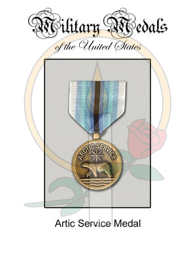 Medal Card, Artic Service