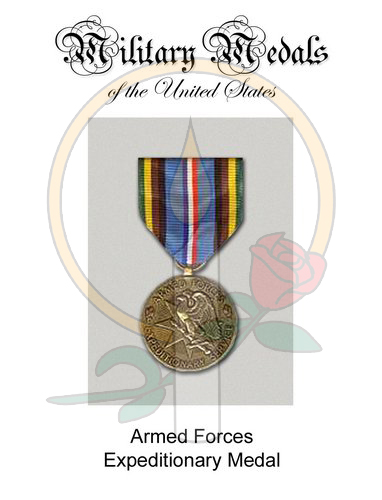Medal Card, Expeditionary Armed Forces